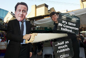 'David Cameron' talking rubbish at Camden Lock Market