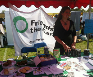 Jess on our stall at the London Green Fair 2011